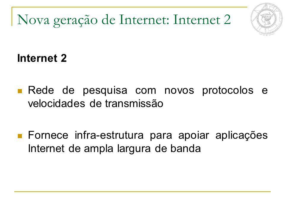 Nova geração de Internet: Internet 2