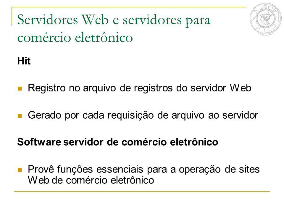 Servidores Web e servidores para comércio eletrônico