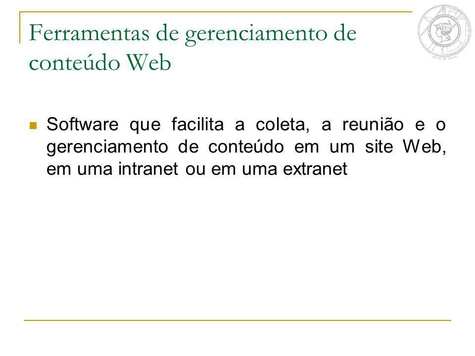 Ferramentas de gerenciamento de conteúdo Web