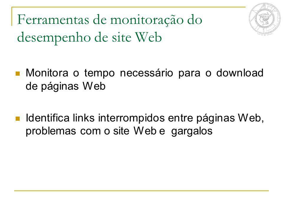 Ferramentas de monitoração do desempenho de site Web