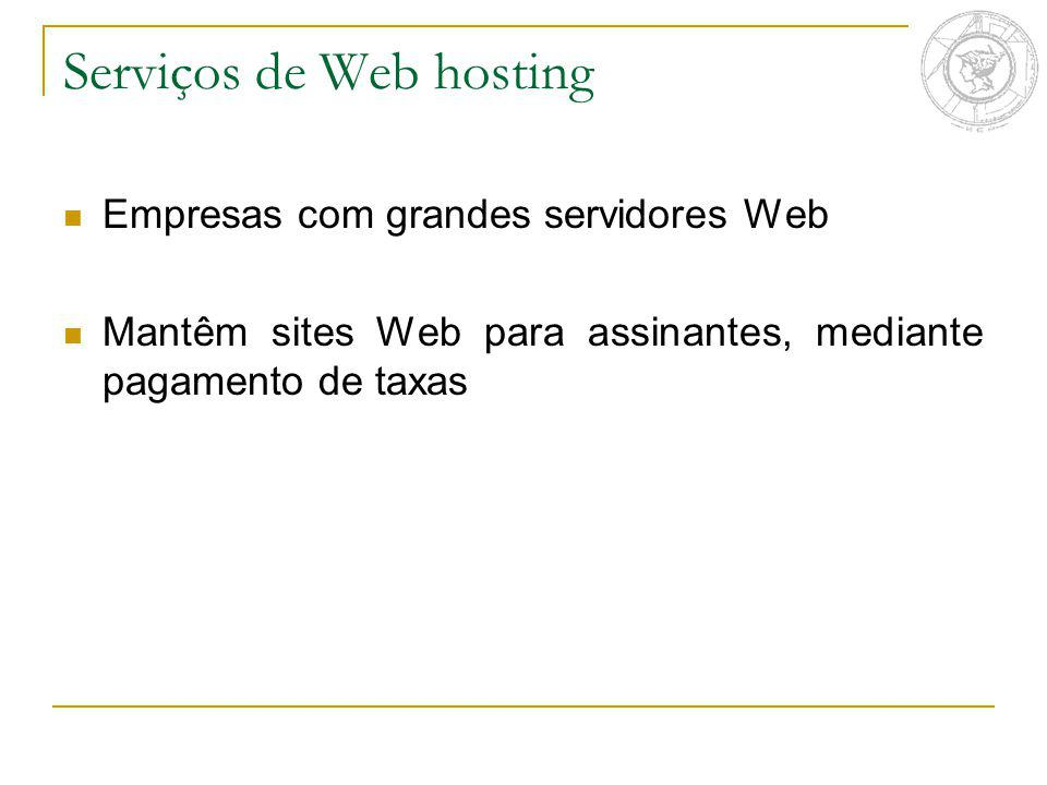 Serviços de Web hosting