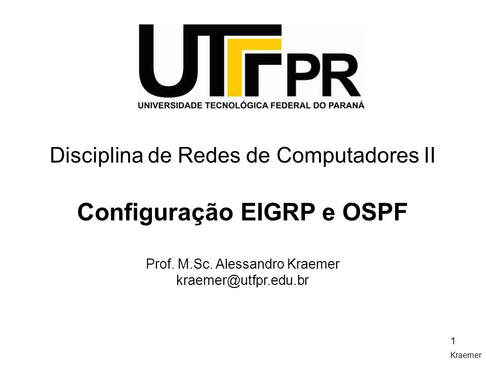 Configuração EIGRP e OSPF