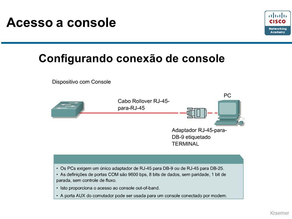 Acesso a console Configurando conexão de console