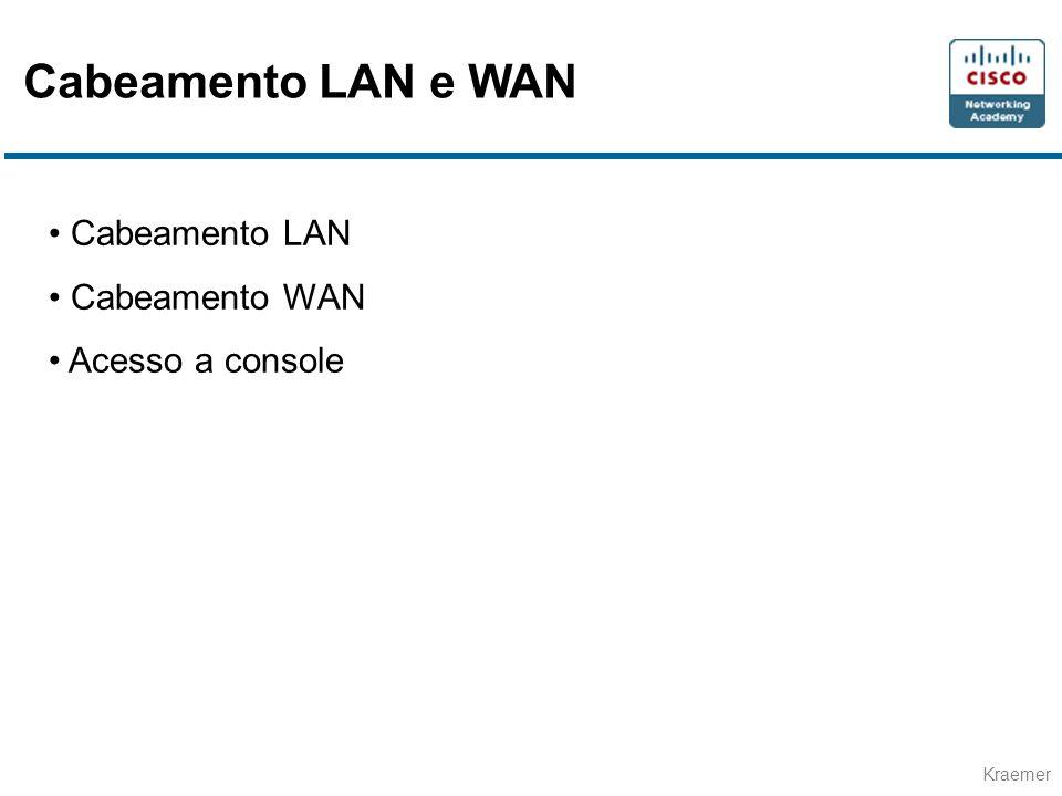 Cabeamento LAN e WAN Cabeamento LAN Cabeamento WAN Acesso a console