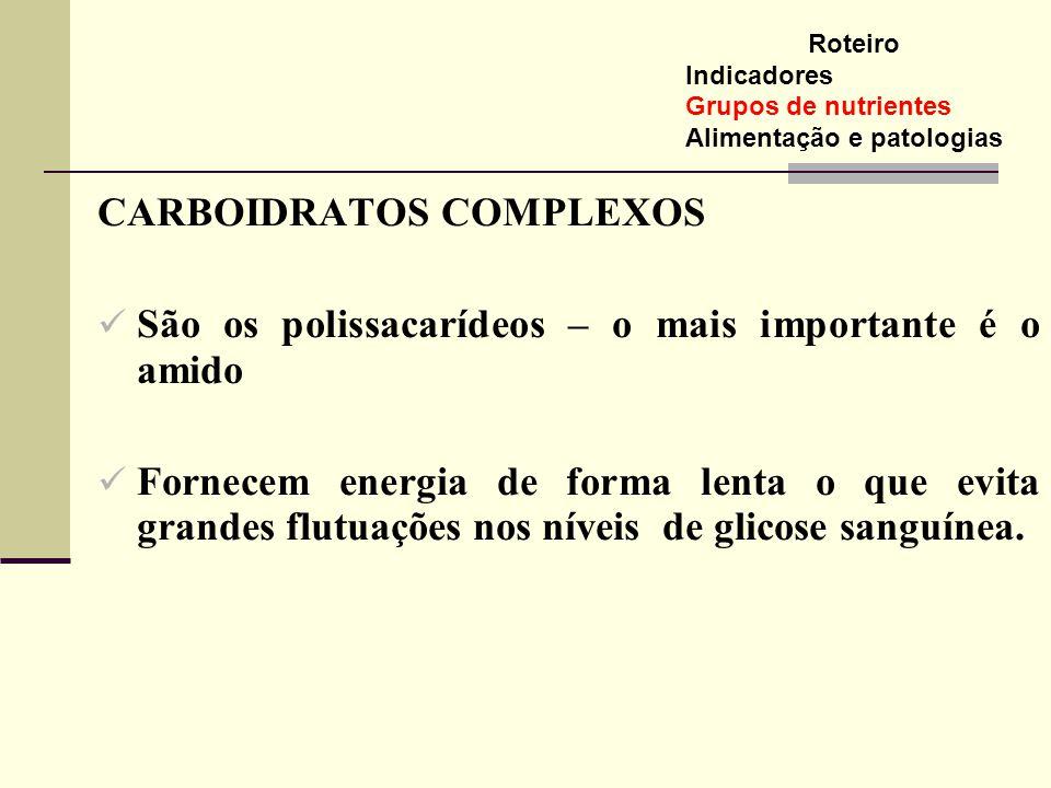CARBOIDRATOS COMPLEXOS