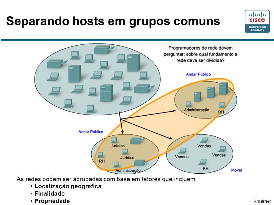 Separando hosts em grupos comuns