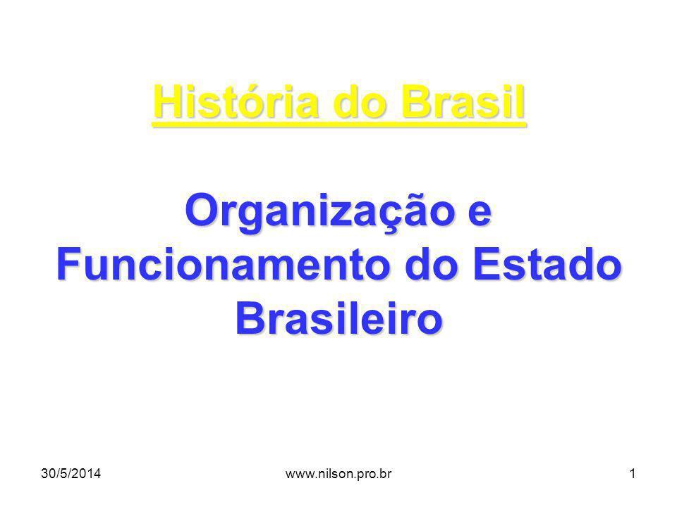 Organização e Funcionamento do Estado Brasileiro