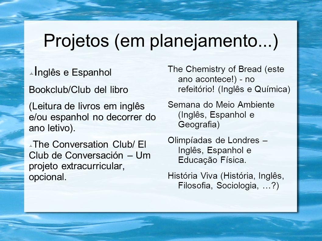 Projetos (em planejamento...)