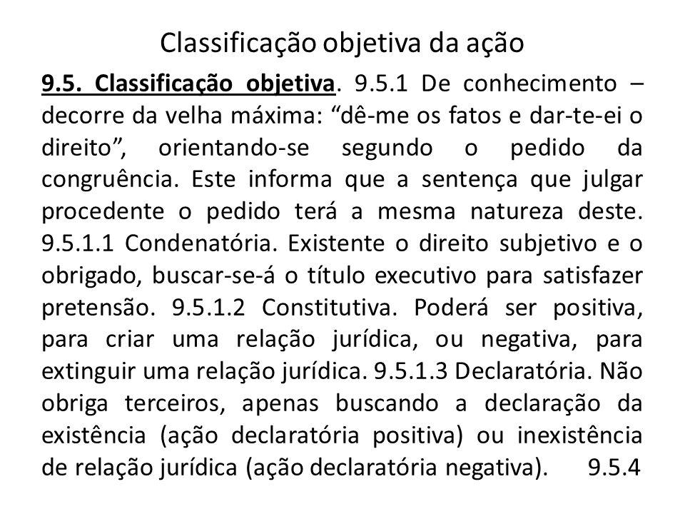 Classificação objetiva da ação