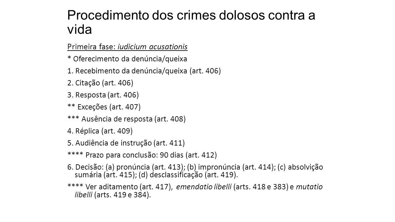 Procedimento dos crimes dolosos contra a vida