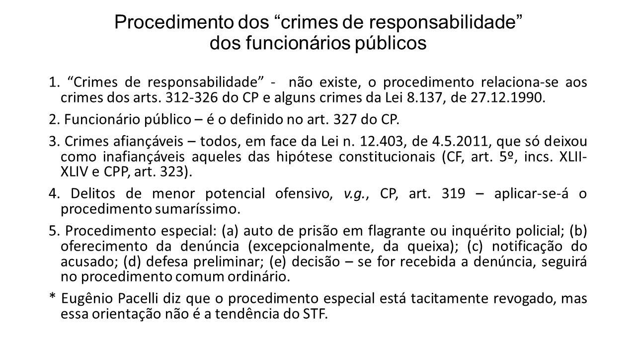 Procedimento dos crimes de responsabilidade dos funcionários públicos