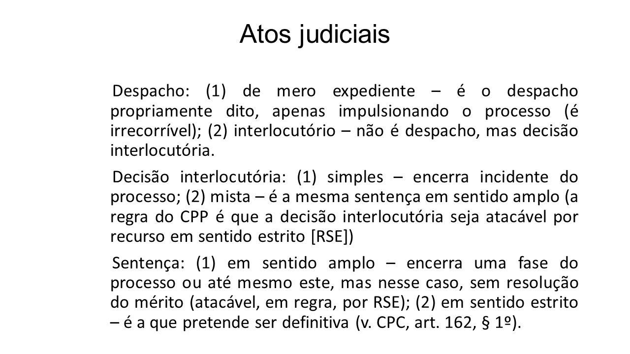 Atos judiciais