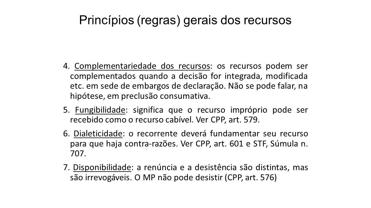Princípios (regras) gerais dos recursos