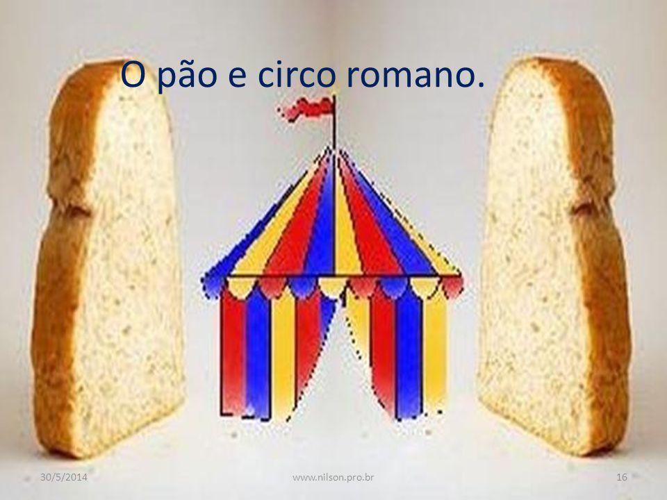 O pão e circo romano. 31/03/2017 www.nilson.pro.br