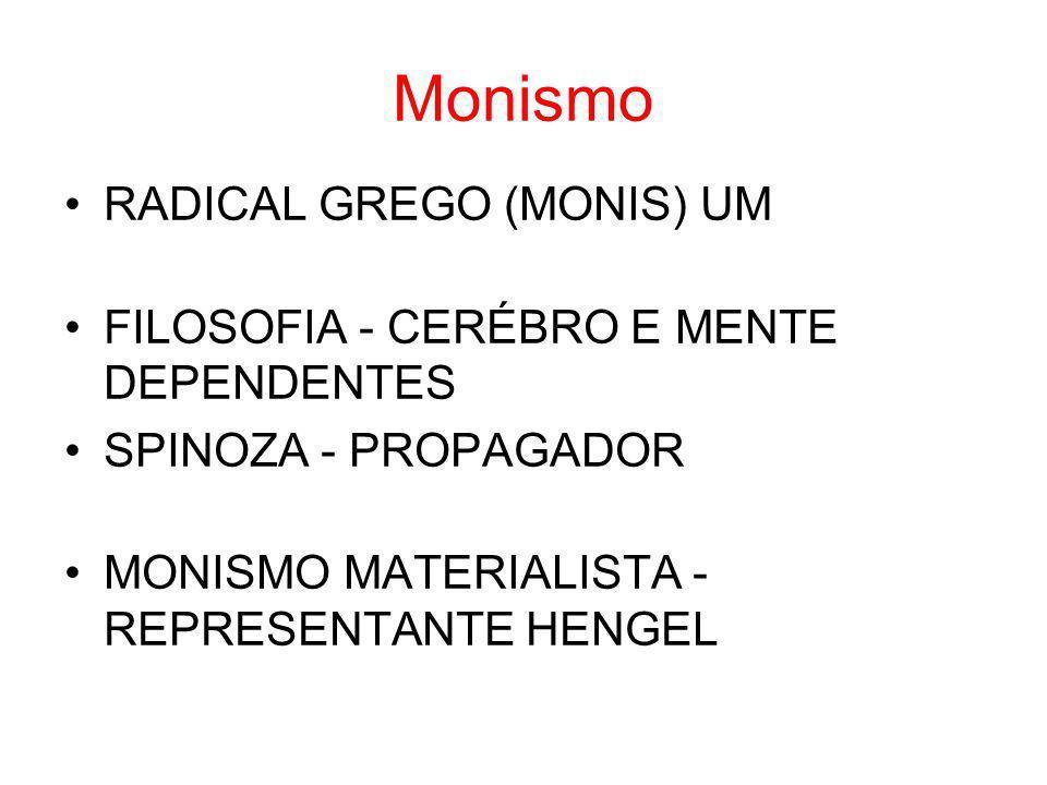 Monismo RADICAL GREGO (MONIS) UM
