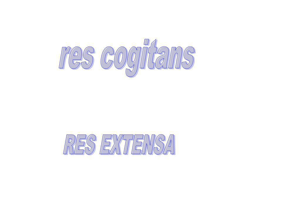 res cogitans RES EXTENSA