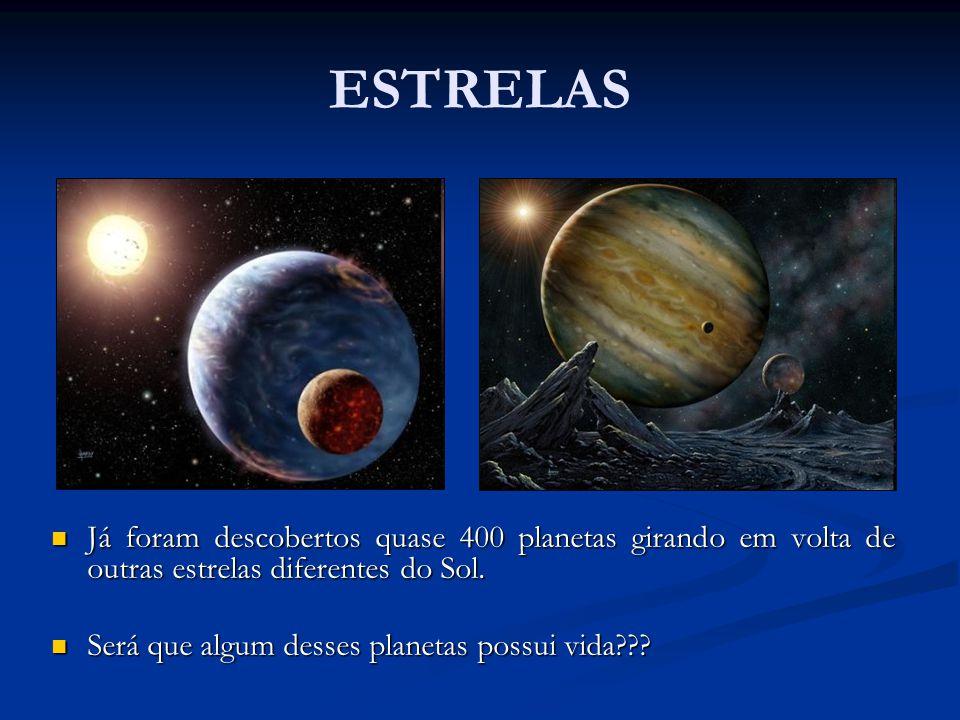 ESTRELAS Já foram descobertos quase 400 planetas girando em volta de outras estrelas diferentes do Sol.