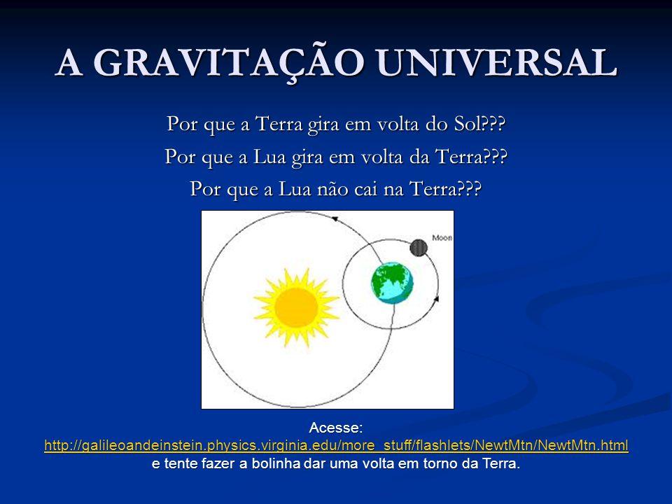 A GRAVITAÇÃO UNIVERSAL
