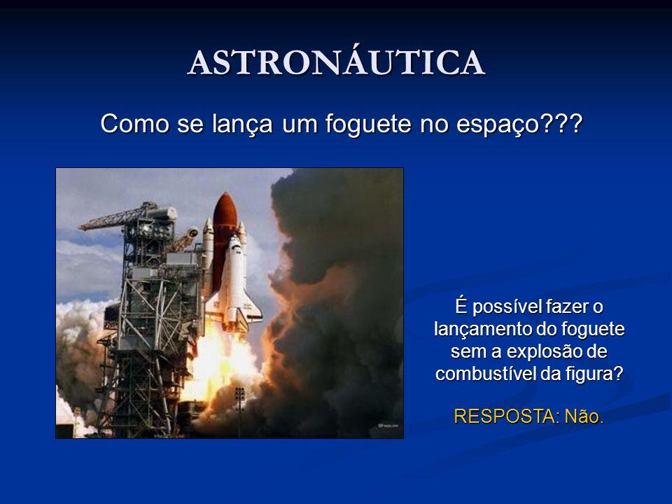 Como se lança um foguete no espaço