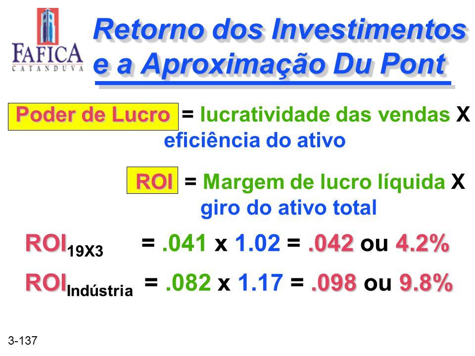 Retorno dos Investimentos e a Aproximação Du Pont