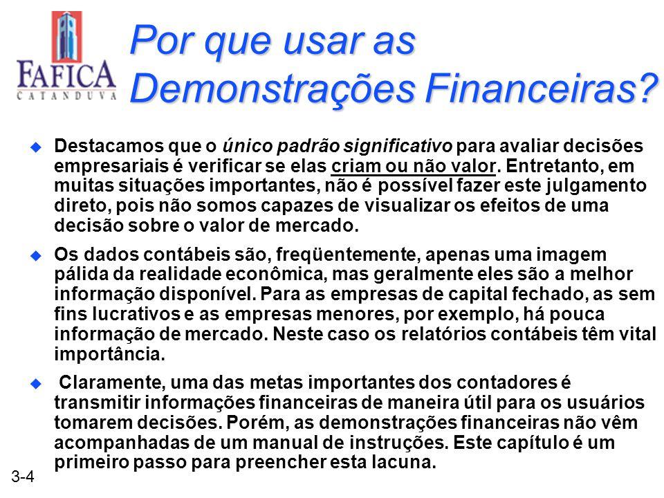 Por que usar as Demonstrações Financeiras