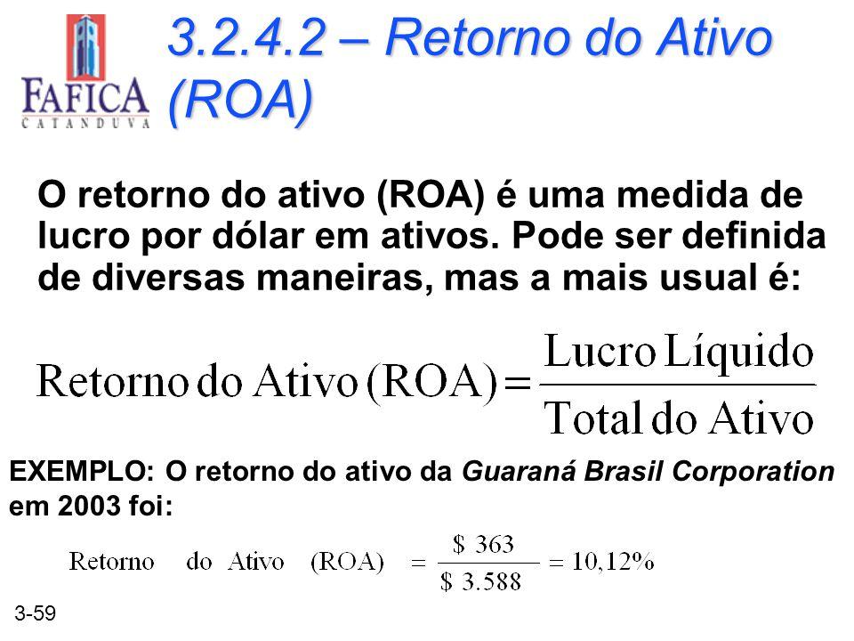 3.2.4.2 – Retorno do Ativo (ROA)