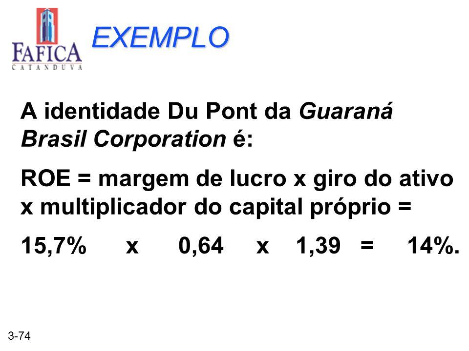 EXEMPLO A identidade Du Pont da Guaraná Brasil Corporation é: