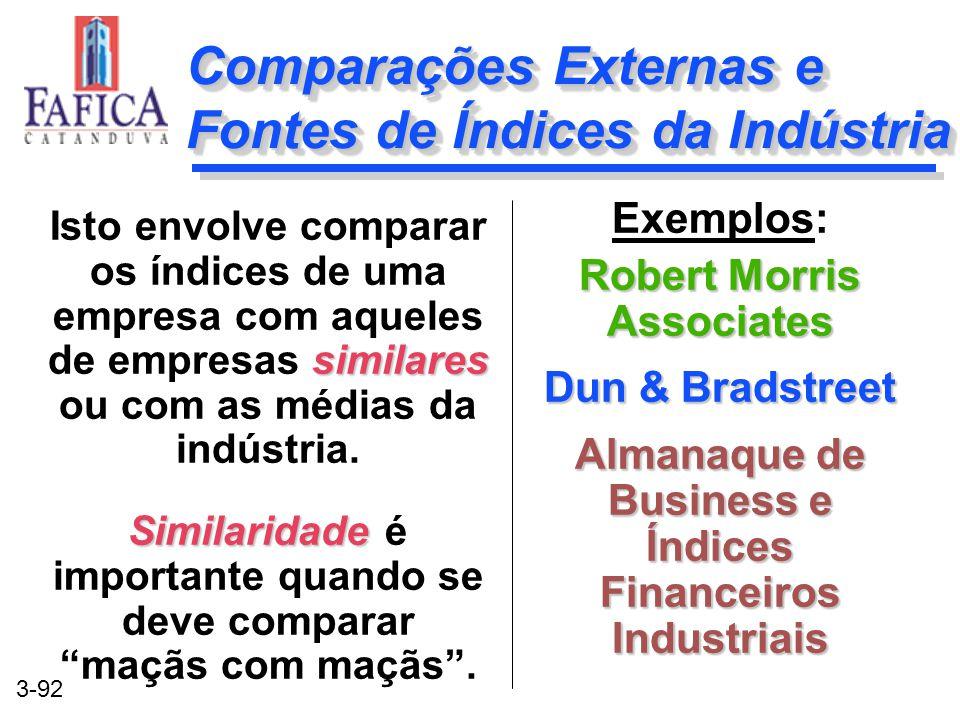 Comparações Externas e Fontes de Índices da Indústria