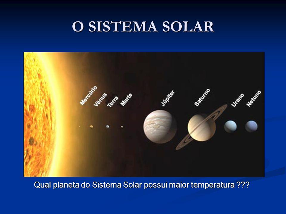 O SISTEMA SOLAR Qual planeta do Sistema Solar possui maior temperatura