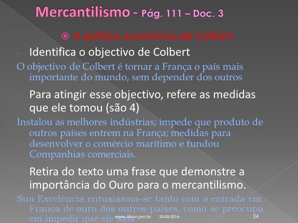 Mercantilismo - Pág. 111 – Doc. 3