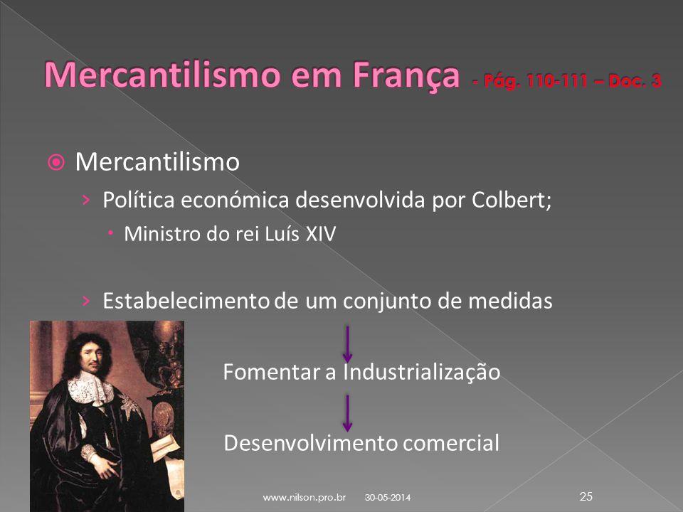 Mercantilismo em França - Pág. 110-111 – Doc. 3
