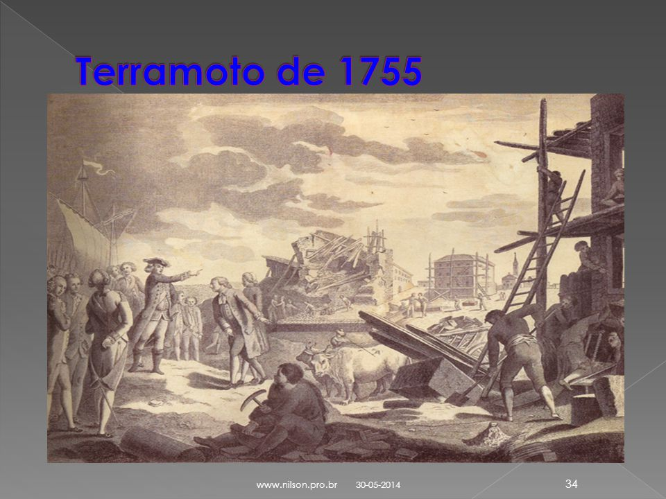 Terramoto de 1755 www.nilson.pro.br 31-03-2017