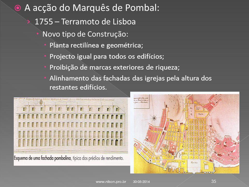 A acção do Marquês de Pombal: