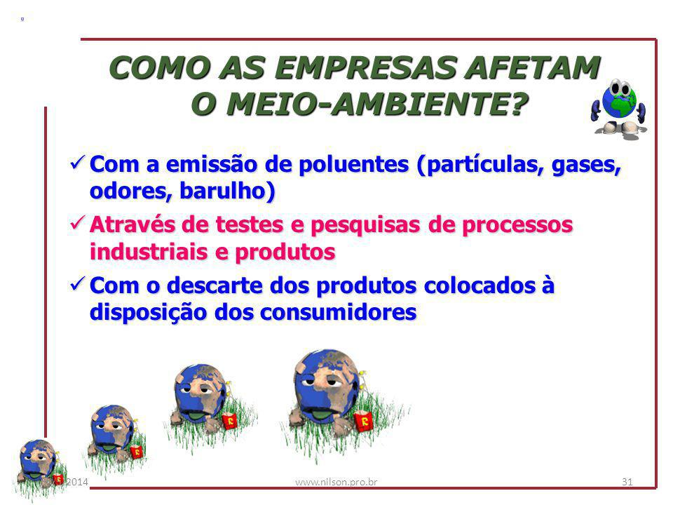 COMO AS EMPRESAS AFETAM
