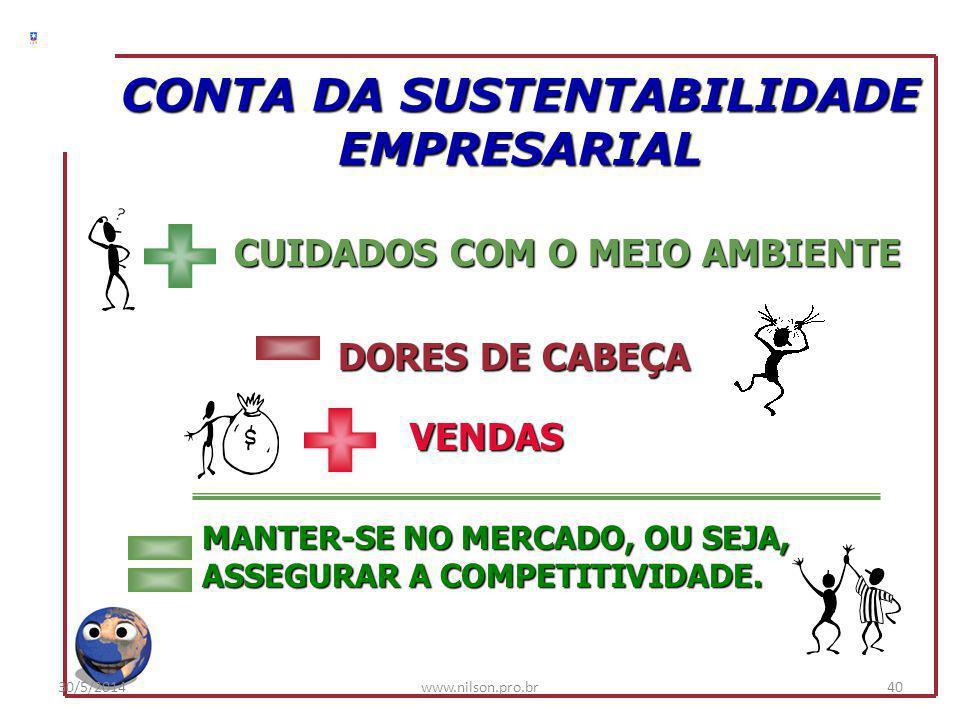 CONTA DA SUSTENTABILIDADE EMPRESARIAL