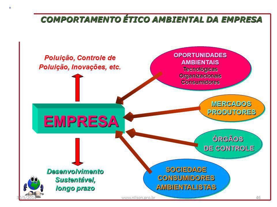 COMPORTAMENTO ÉTICO AMBIENTAL DA EMPRESA