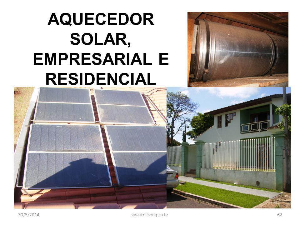 AQUECEDOR SOLAR, EMPRESARIAL E RESIDENCIAL