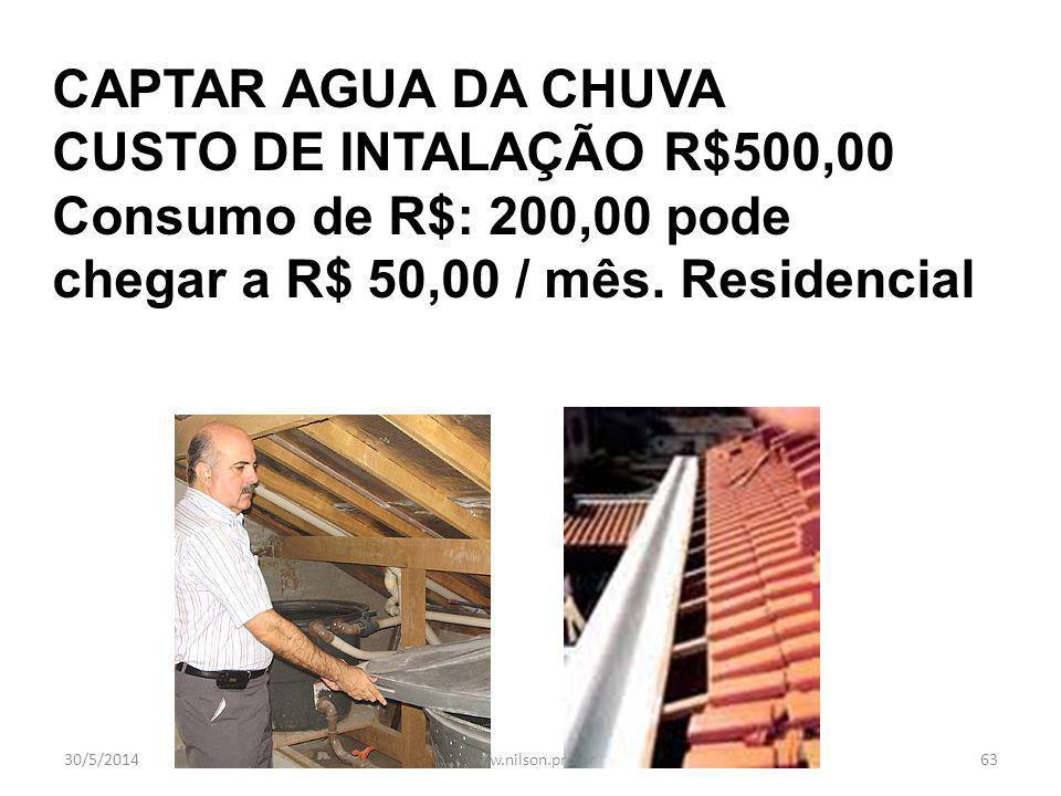 Consumo de R$: 200,00 pode chegar a R$ 50,00 / mês. Residencial