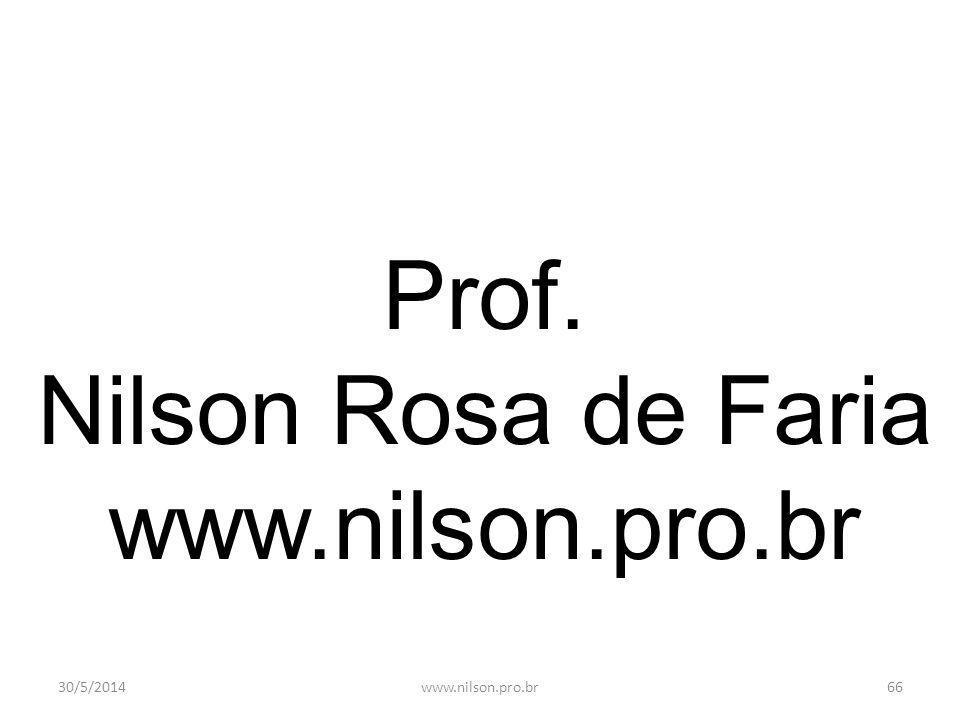 Prof. Nilson Rosa de Faria www.nilson.pro.br 31/03/2017