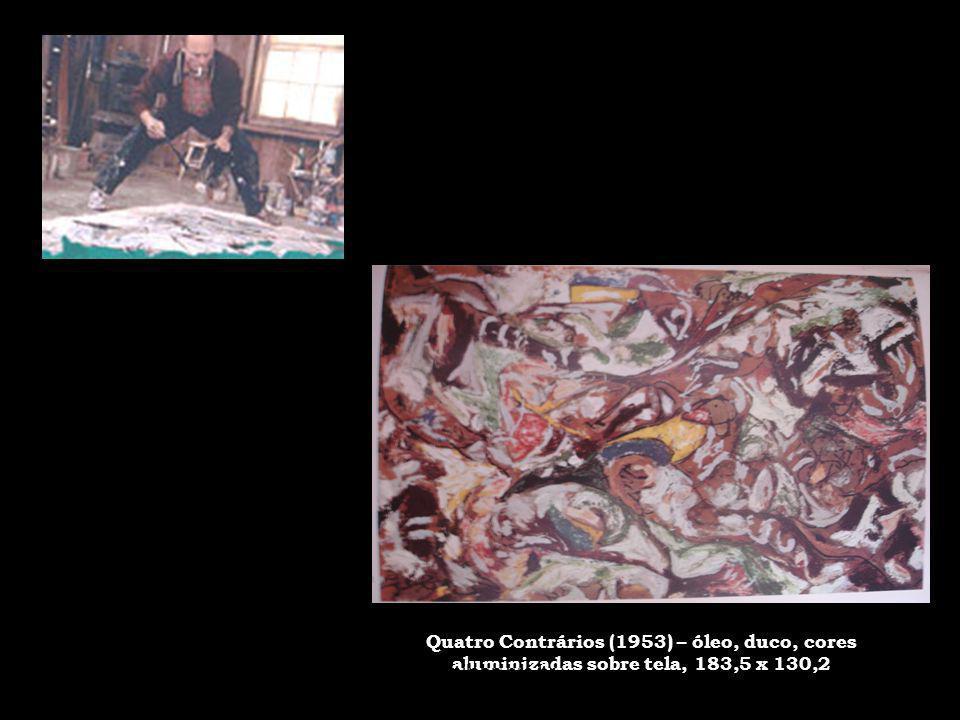 Quatro Contrários (1953) – óleo, duco, cores aluminizadas sobre tela, 183,5 x 130,2