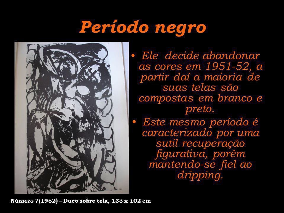 Período negro Número 7(1952) – Duco sobre tela, 133 x 102 cm.