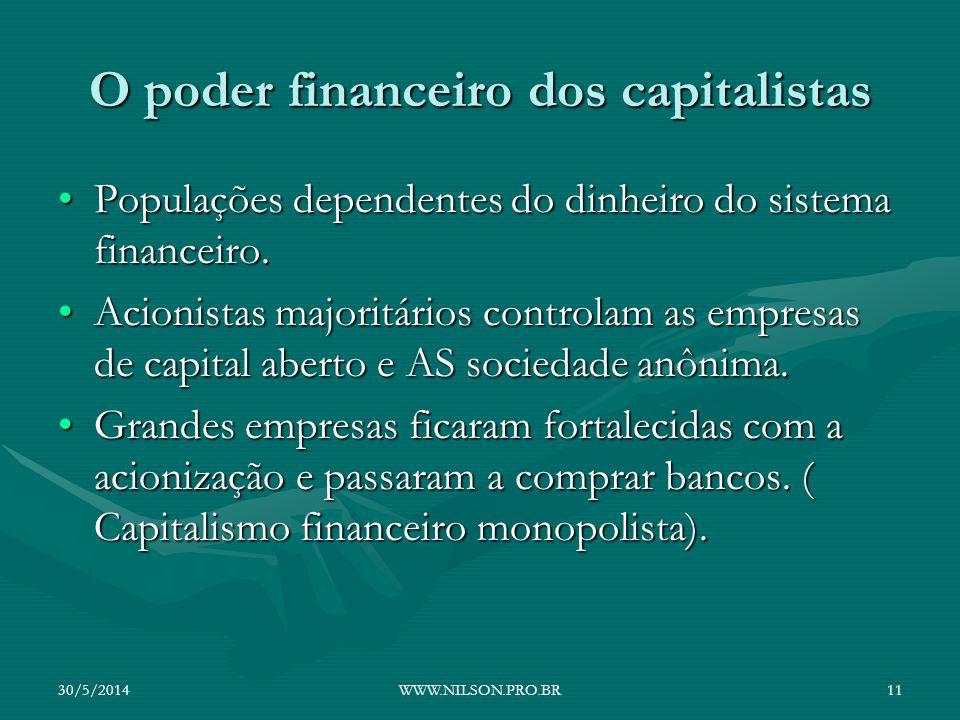 O poder financeiro dos capitalistas