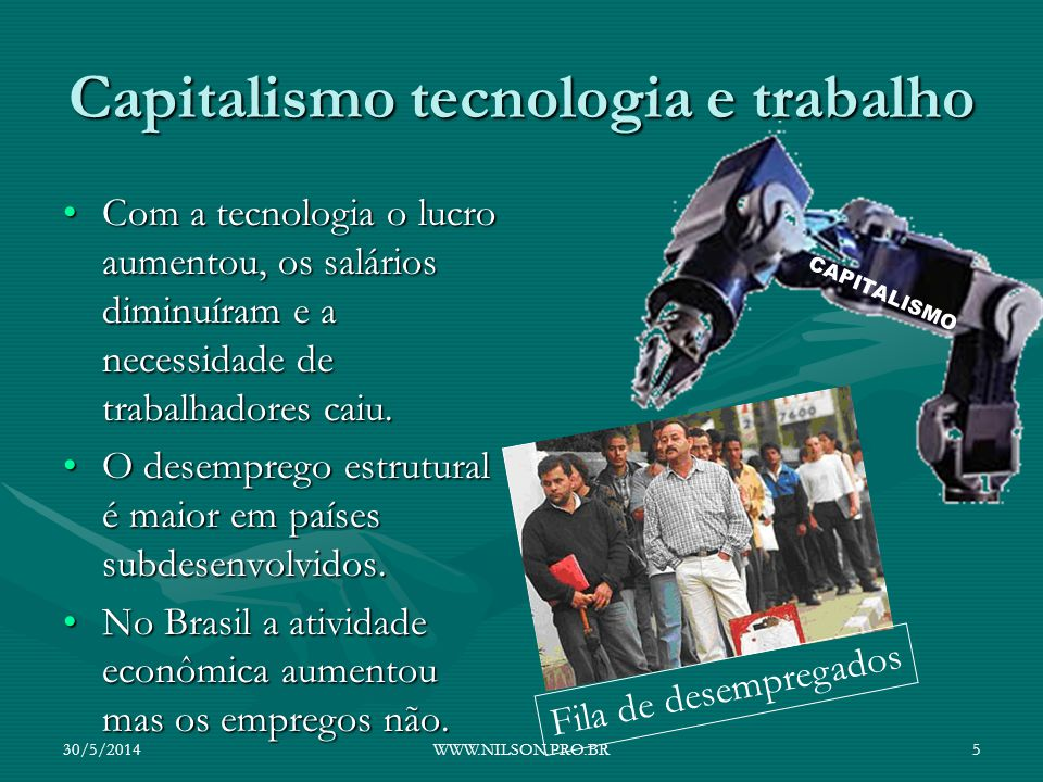 Capitalismo tecnologia e trabalho