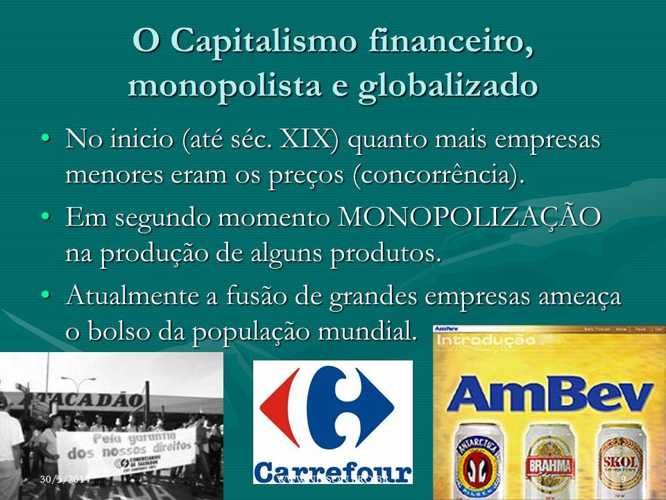 O Capitalismo financeiro, monopolista e globalizado