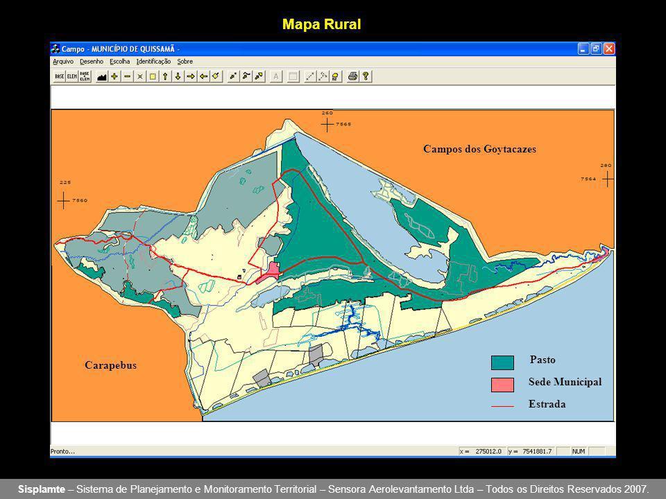 Mapa Rural Campos dos Goytacazes Pasto Carapebus Sede Municipal
