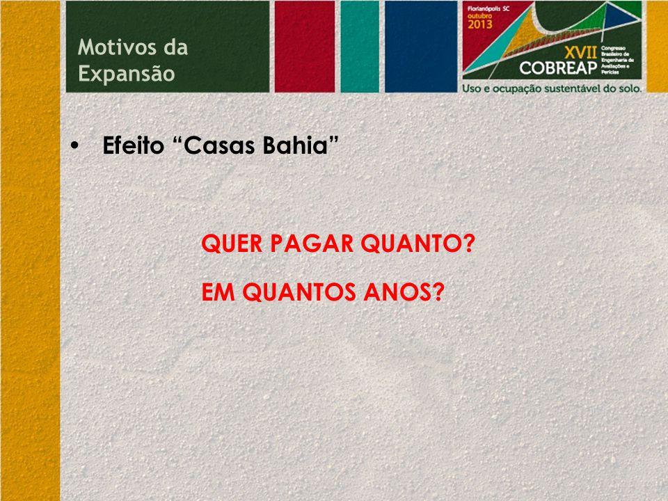 • Efeito Casas Bahia QUER PAGAR QUANTO EM QUANTOS ANOS