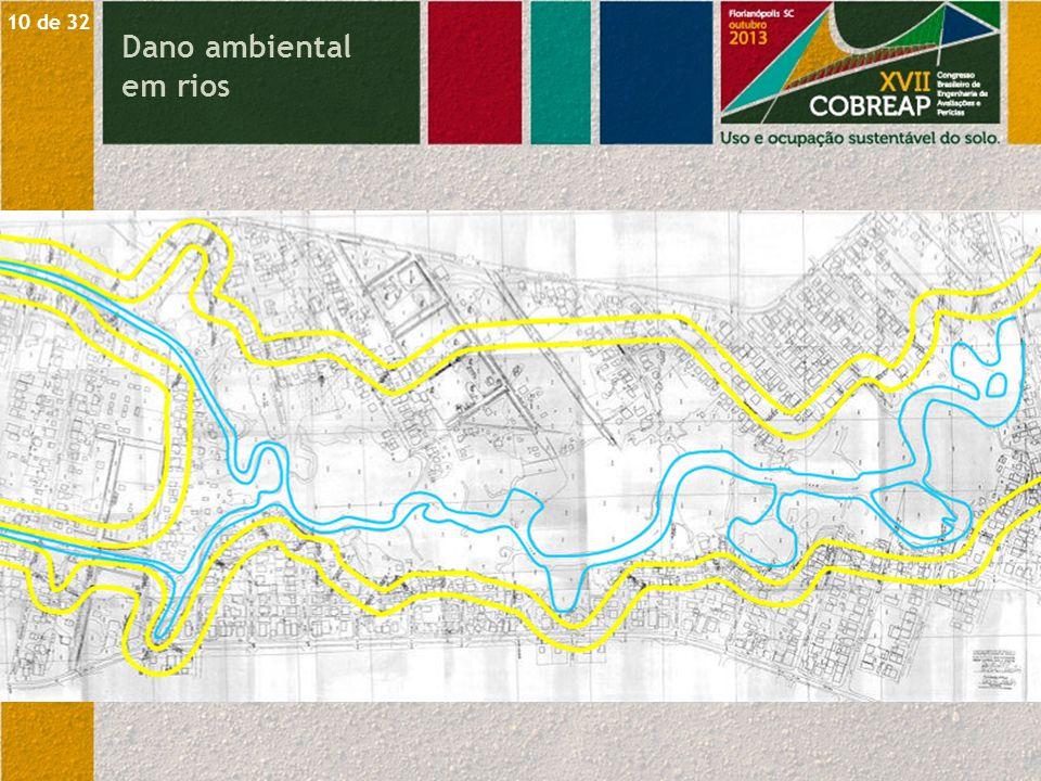 10 de 32 Dano ambiental em rios