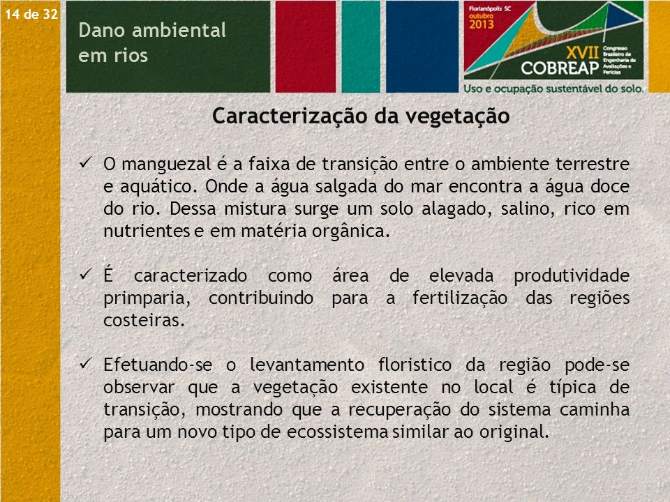 Caracterização da vegetação
