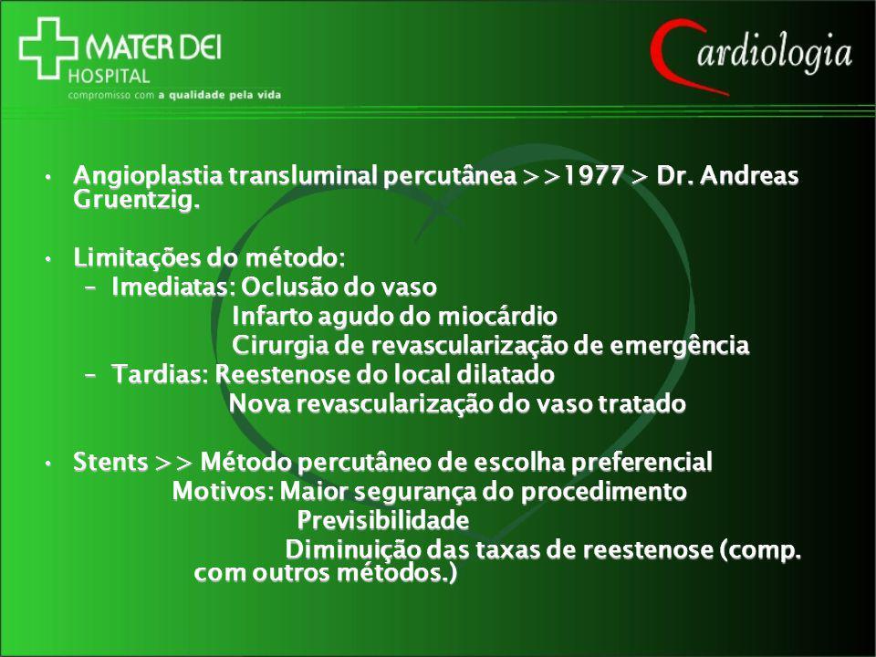 Angioplastia transluminal percutânea >>1977 > Dr