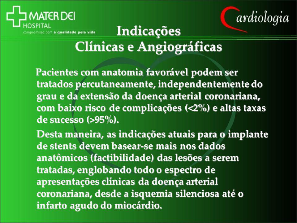 Indicações Clínicas e Angiográficas